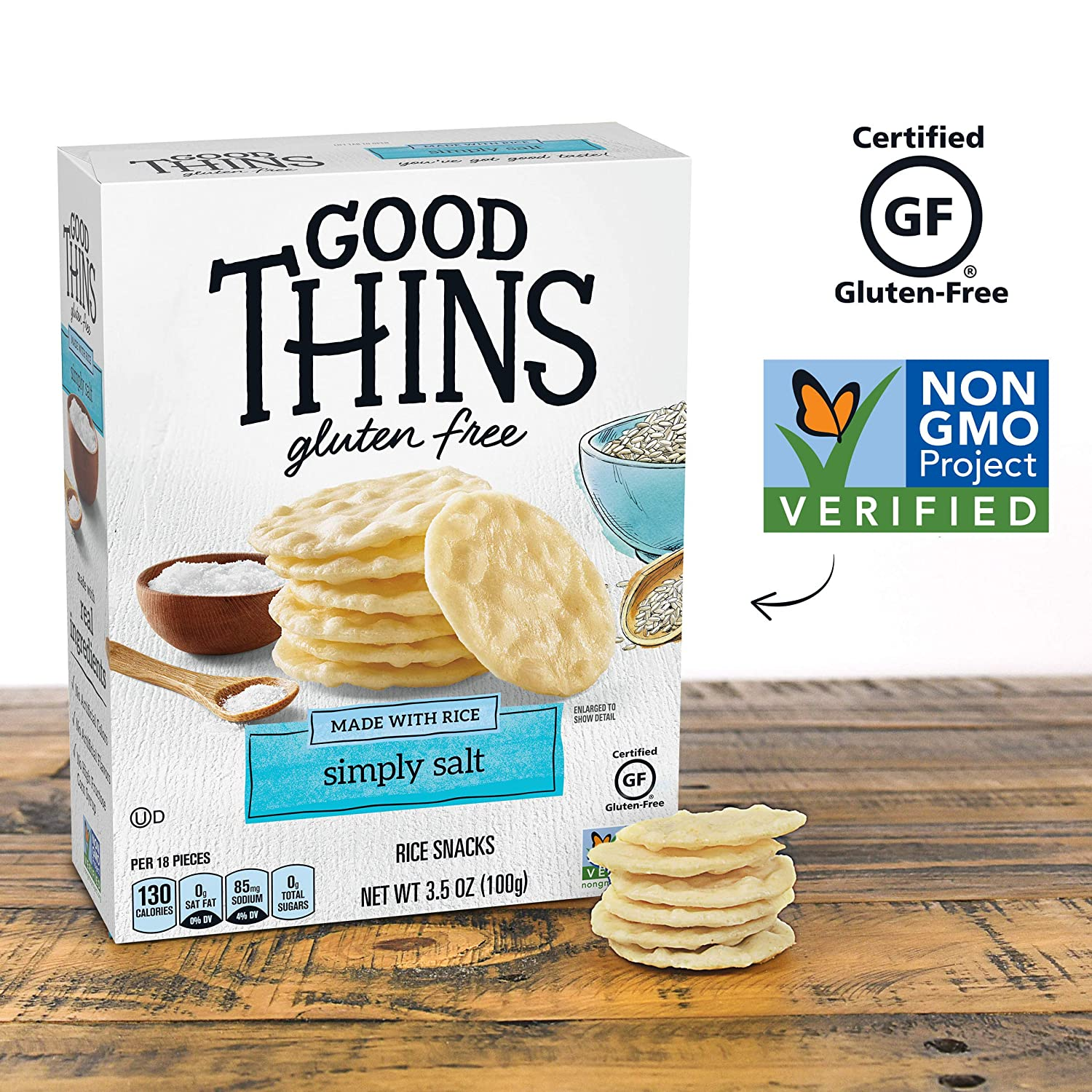 Good Thins Simply Salt Rice Snacks Gluten Free Crackers